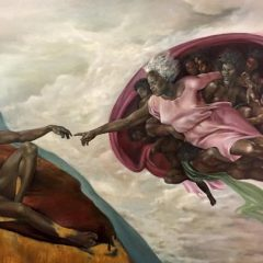 Uproar over artist's painting of God as a black woman